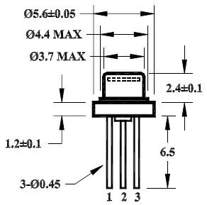 高品质850nm,50mw半导体激光器_wsld-850-050m-1-pd
